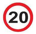a 20mph traffic sign