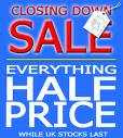 closing down poster