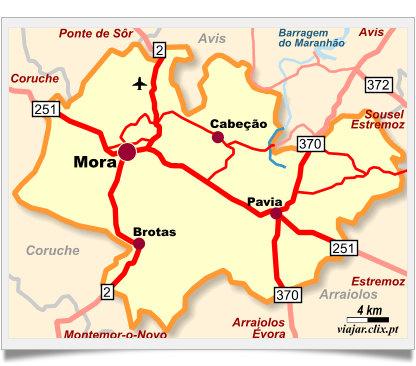mora alentejo mapa SUGESTÃO DE PASSEIO: FLUVIÁRIO DE MORA, BARRAGEM DE MONTARGIL E  mora alentejo mapa