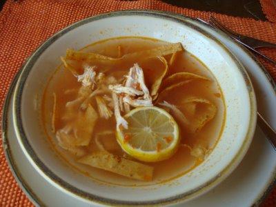 Recetario Yucateco Sopa de lima