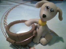 Hermoso Cachorro con barril