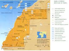 Mapa penetración muro marroquí en Mauritania
