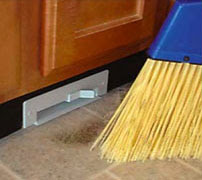 From Galaxie Vac And Via Gizmodo The Horribly Branded But Very Functional Sweep Away Vacuum Installs Inside A Cabinet With Uh Er Flush