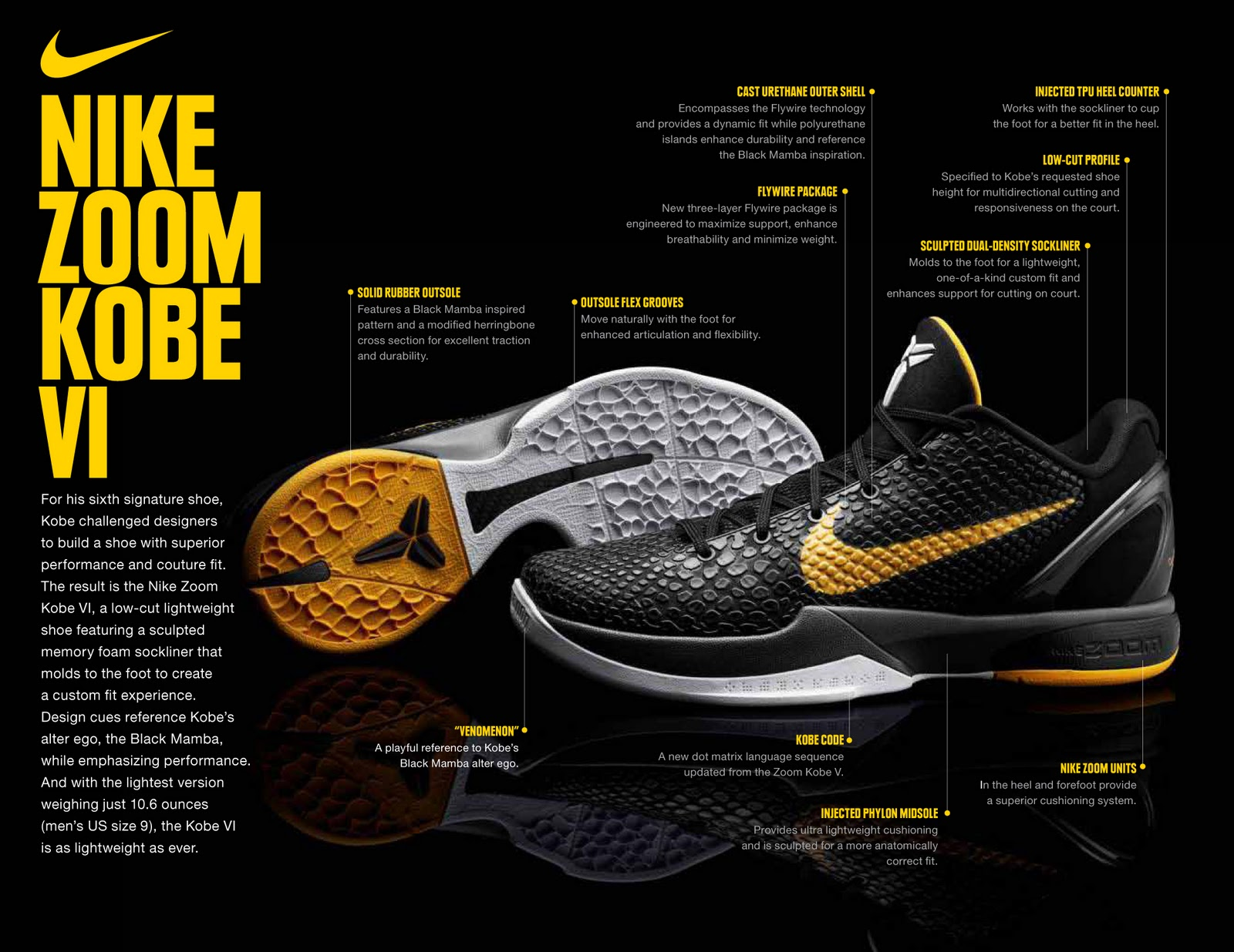 official photos 4b4cb 1d4a6 australia nike zoom kobe vi release ad5fc 13401 top quality some of the  key features of kobes sixth nike signature shoe are the sculpted