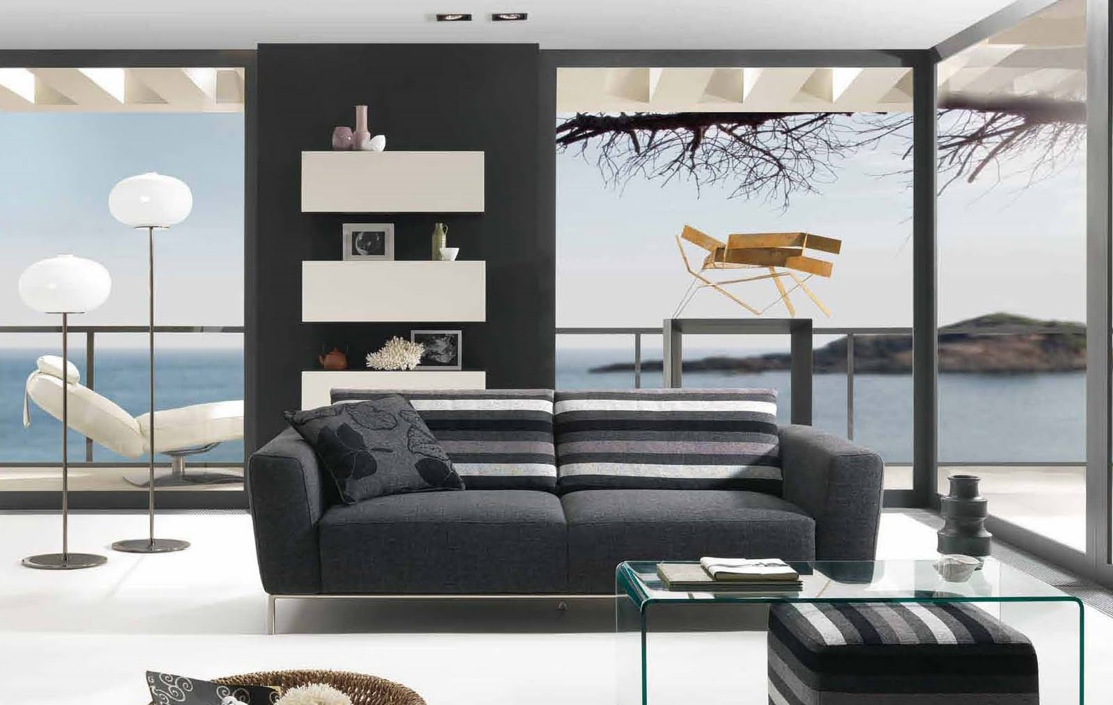 Future house design modern living room interior design - Modern wall decor for living room ...