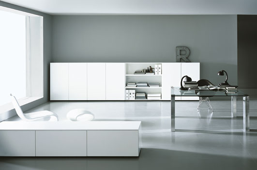 Contemporary Black and white Home office furniture Design ...