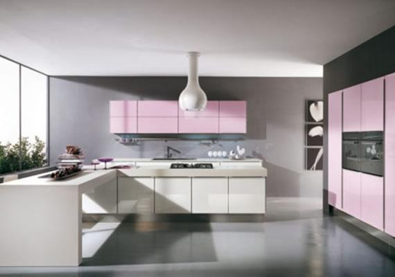 modern pink kitchen designjulie michiels  interior