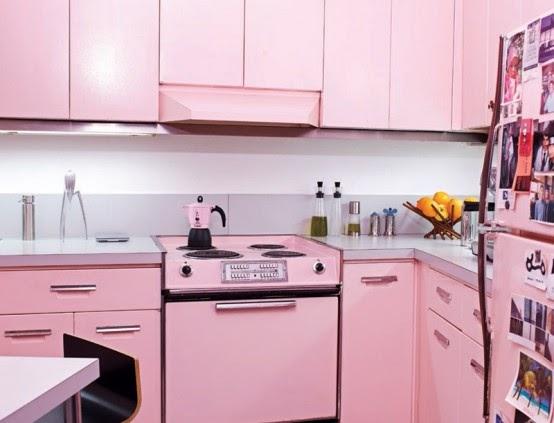 Modern Pink Kitchen Design By Julie Michiels Home Design Photo