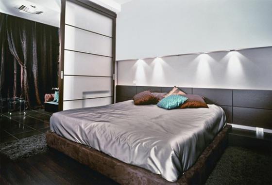 Modern Extremely Dark Apartment Interiors Decorating
