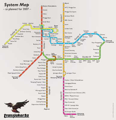 rute transjakarta busway 2007