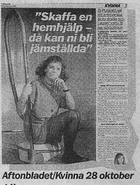Aftonbladet/Kvinna 28/10 1992