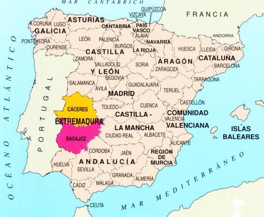Cartina Spagna Toledo.Gite Fuori Porta Extremadura Vivere A Madrid