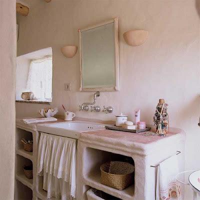 A vida casa r stica uma casa de ro a tudo a - Muebles de lavabo rusticos ...