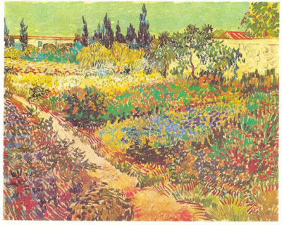 Gardens In Art: Drawings And Paintings By Van Gogh. Flowering Garden With  Path