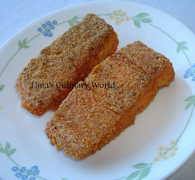 Salmon fish rava fry