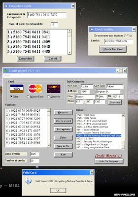 Credit Card Generator With CVV | TheFreeWebScripts