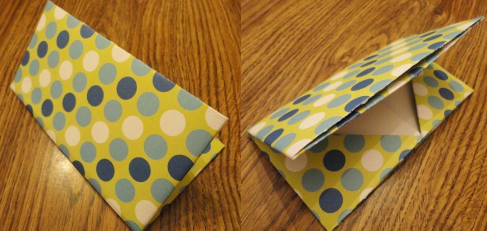 peacefully folding blog origami business card holder