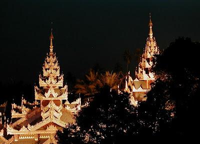 Shwedagon spires, Myanmar
