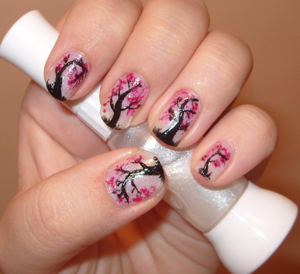 sharihearts: Nail Art Inspiration - Cherry Blossom Tree