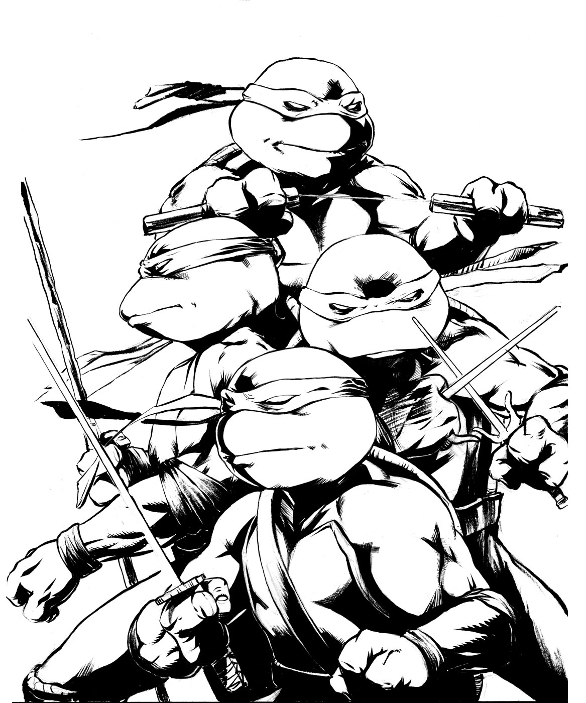 Blue Ninja Turtle Coloring Page Coloring Pages