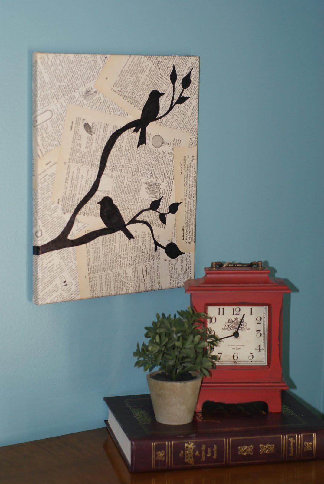Crafty life: Easy Bird Wall Art