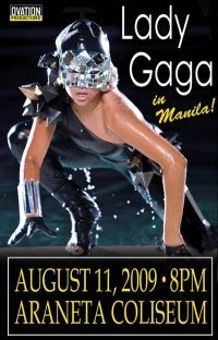 lady gaga live in manila, august 11 2009, the fame ball tour concert, araneta coliseum, Poker Face, Just Dance, Love Game, Paparazzi, The Fame, philippines