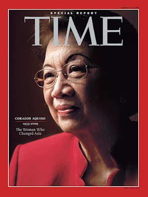 Corazon Aquino, Cory Aquino death, August 2009, Time Magazine, The Saint of Democracy