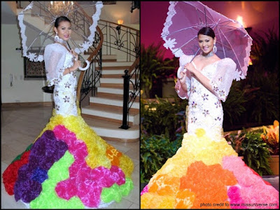 Miss Universe 2009, Philippines, Bahamas, Bianca Pamela Manalo, Disgusting, Awful, Ugly, Pangit, Gown, National Costume, Filipiniana Costume, Saya Gown