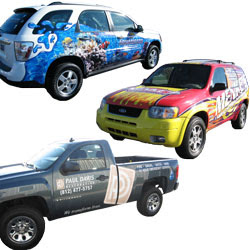 Mobile marketing, vehicle wraps, vehicle magnets, car toppers, graphics and signs