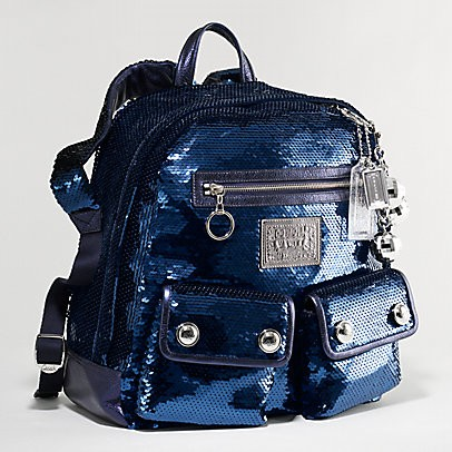 Kl Premium Outlet Coach Poppy Sequins Backpack 15348