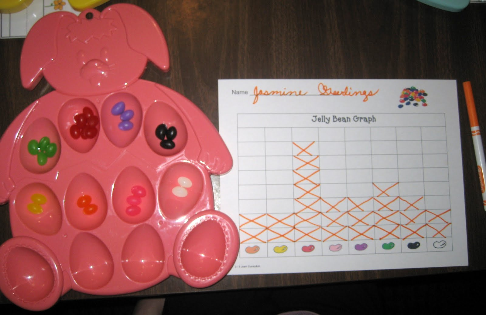 Treasures Of The Heart Preschool And Child Care Another Jelly Bean Graphing Activity