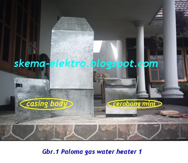 Paloma Gas Water Heater Casing Schematic Diagrams