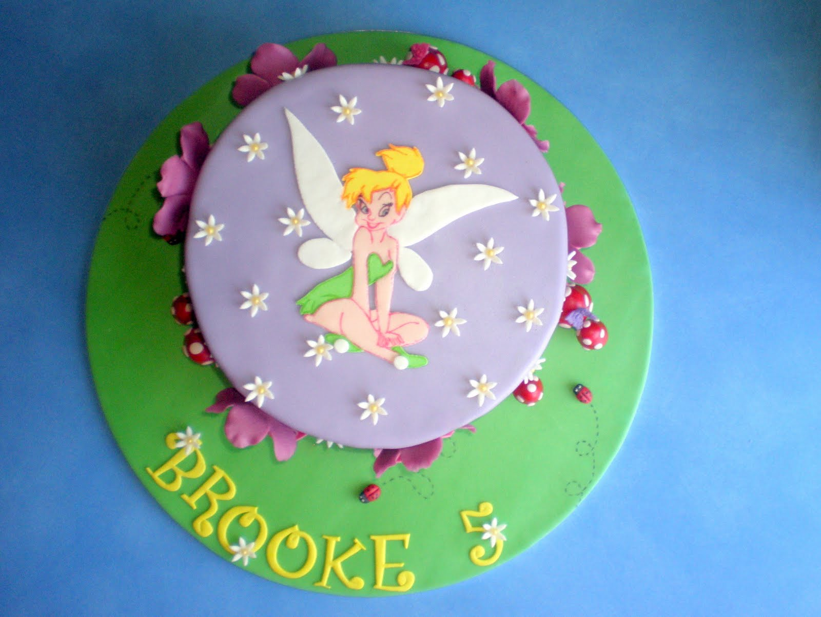Birthday Tinkerbell Cake Toppers
