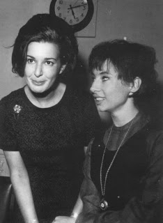 Verity, left, with actress Carol Ann Ford