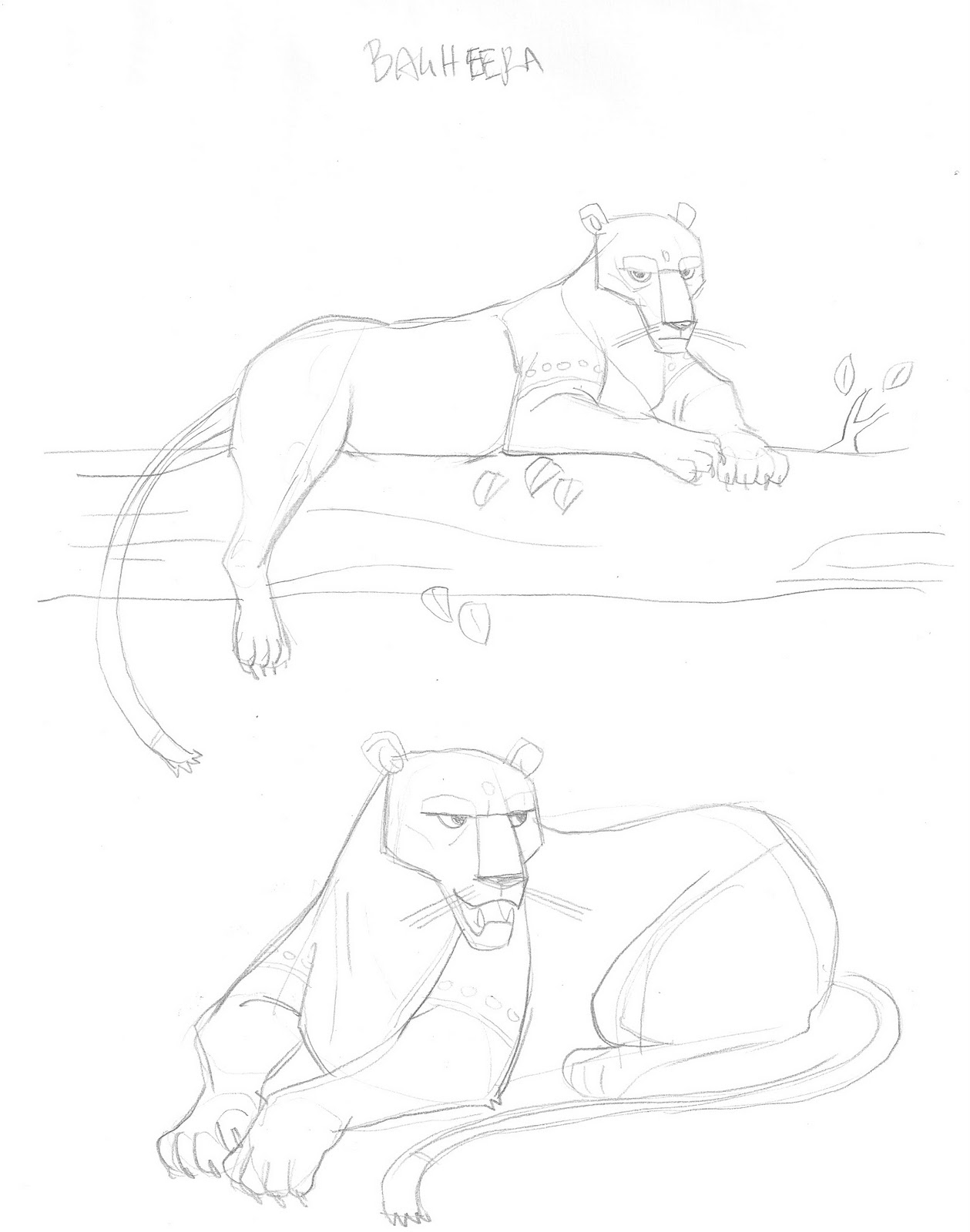 Sketches Of M S Corley Jungle Book Character Concepts