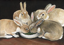 Bunny Oil Painting by Charlotte's Web Art