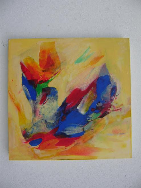 Werk Dani Acryl op doek 60x60cm