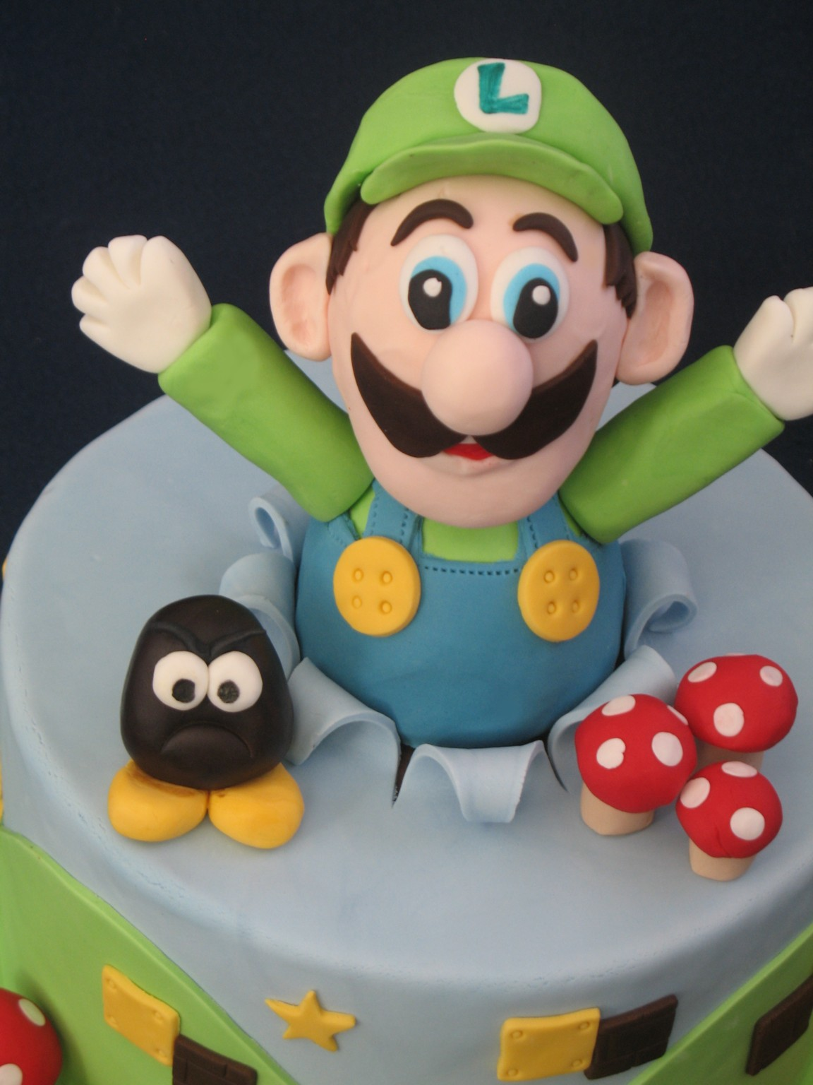 Blissfully Sweet Luigi Birthday Cake For A Racy Little
