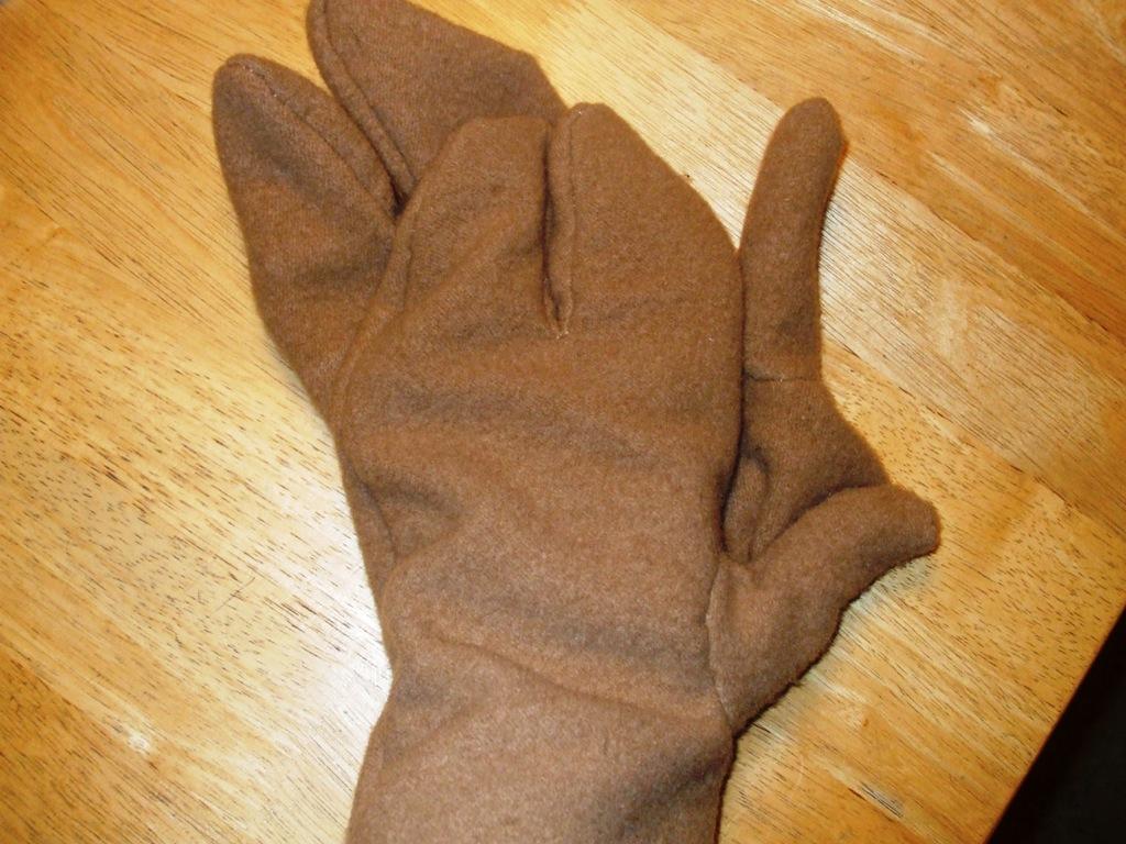 Ercc Glaison Hand Stitched Split Finger Wool Mittens