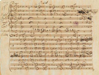 Manuscrit autographe de l'octuor D.803
