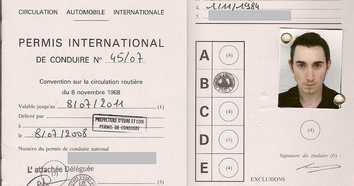 my world permis de conduire international. Black Bedroom Furniture Sets. Home Design Ideas