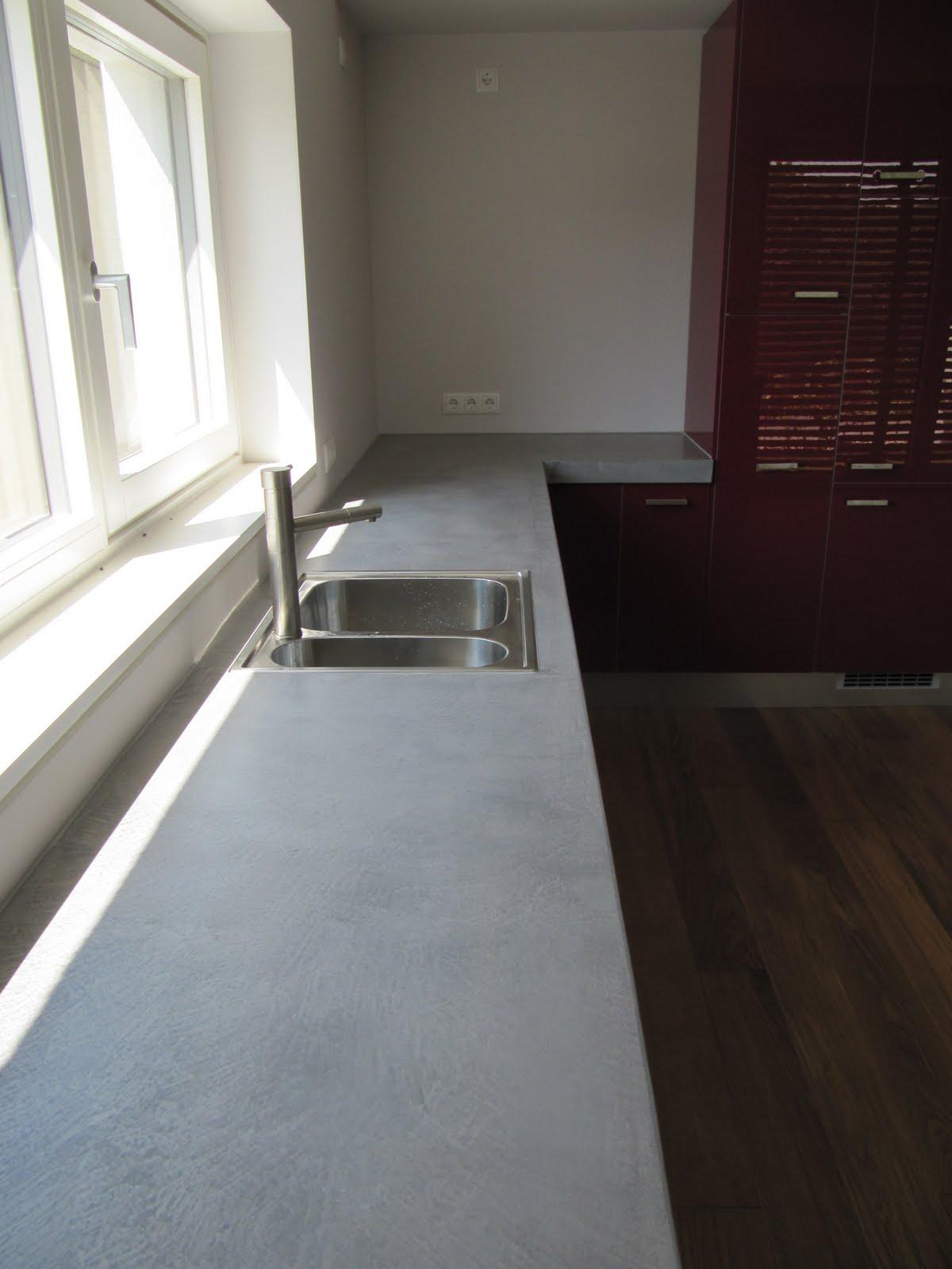 design handwerk betonk che beton cire. Black Bedroom Furniture Sets. Home Design Ideas