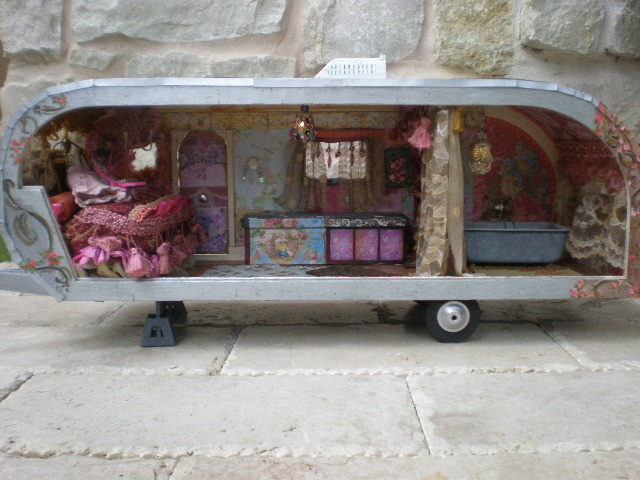 Cinderella Moments Gypsy Travel Trailer Dollhouse All Done