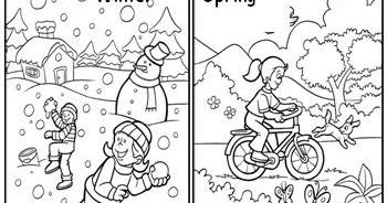 Seasons Of The Year Hora De Colorir Atividades Escolares