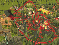Roller Coaster Tycoon 3: Custom Ride - Compact Inverted Coaster