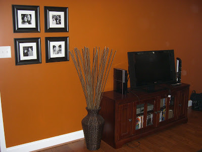 An inviting abode decorating chapel hill style - Burnt orange accent wall ...