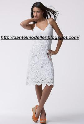 tig isi yazlik beyaz elbise