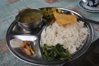 Dal-Bhat - traditional Nepalese lunch