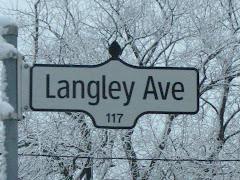 Winter Street Sign