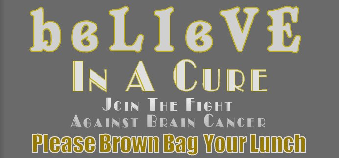 Brown Bag For A Cure/Pediatric Brain Tumor Research